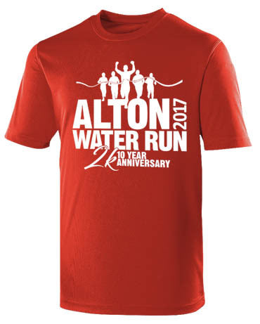 Alton Water Run 2017 Official Race T Shirt - Unisex