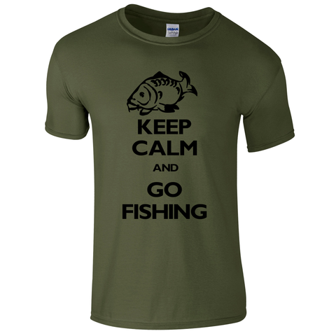 Go Fishing Keep Calm Fishing Threads Men's T-shirt