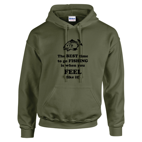 The best time to go Fishing... Fishing Threads Unisex Hoody