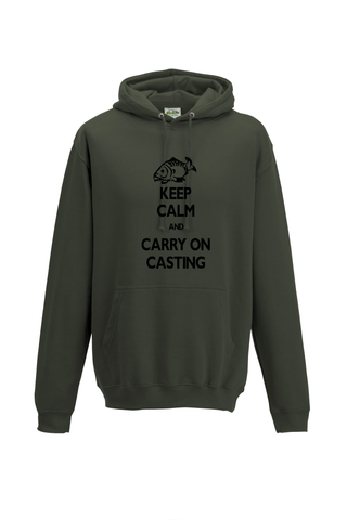 Carry on Casting Keep Calm  Fishing Threads Unisex Hoody