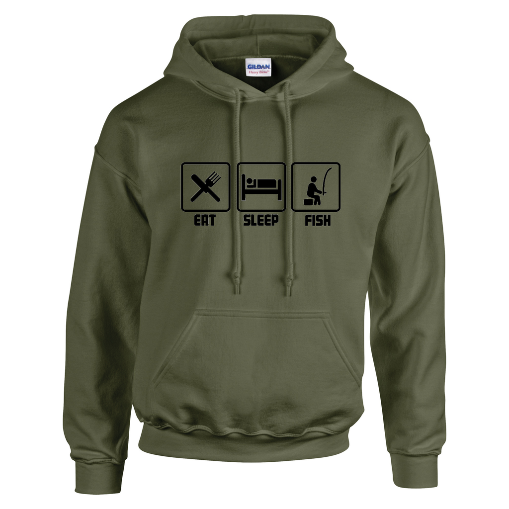 Eat Sleep Fish -  Fishing Threads Unisex Hoody
