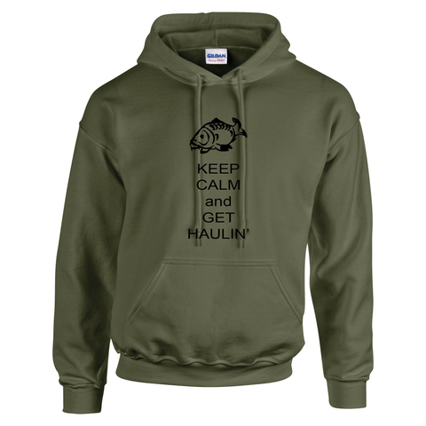 Get haulin' Keep Calm  Fishing Threads Unisex Hoody