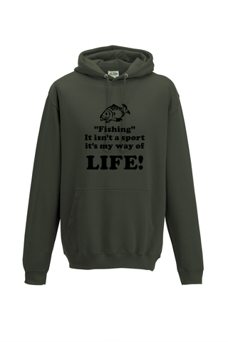 Fishing, It isn't a sport, it's a way of life!  Fishing Threads Unisex Hoody
