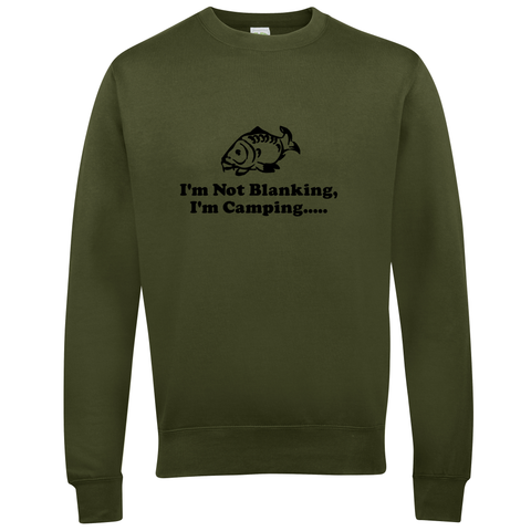 Camping, not Blanking.  Fishing Threads Unisex Sweatshirt