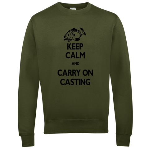 Carry on Casting Keep Calm  Fishing Threads Unisex Sweatshirt