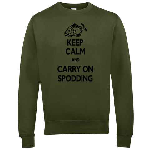 Carry on Spodding Keep Calm  Fishing Threads Unisex Sweatshirt