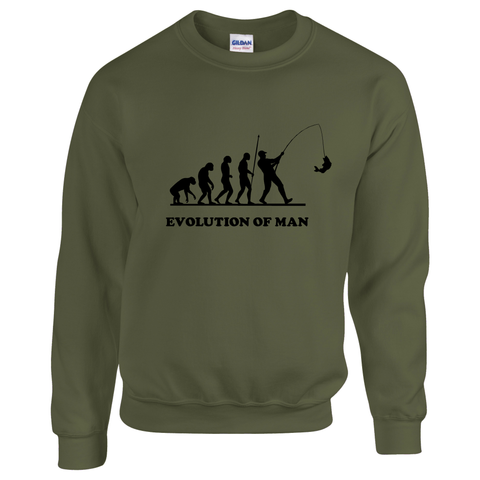 Evolution of Man -  Fishing Threads Unisex Sweatshirt
