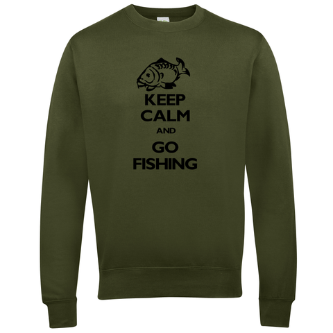 Go Fishing Keep Calm  Fishing Threads Unisex Sweatshirt