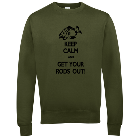 Get your Rods Out Keep Calm  Fishing Threads Unisex Sweatshirt