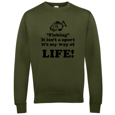 Fishing, It isn't a sport, it's a way of life  Fishing Threads Unisex Sweatshirt