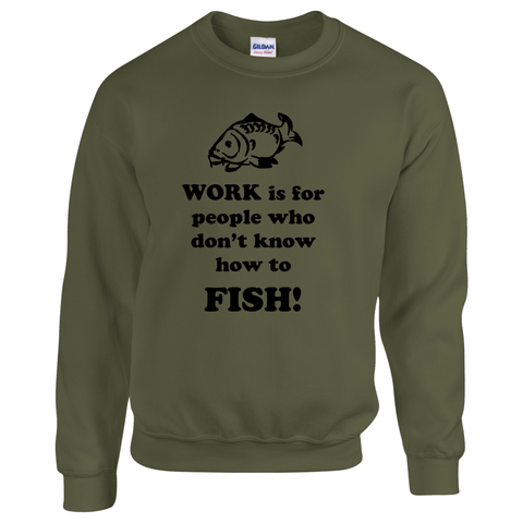Don't know how to fish! -  Fishing Threads Unisex Sweatshirt