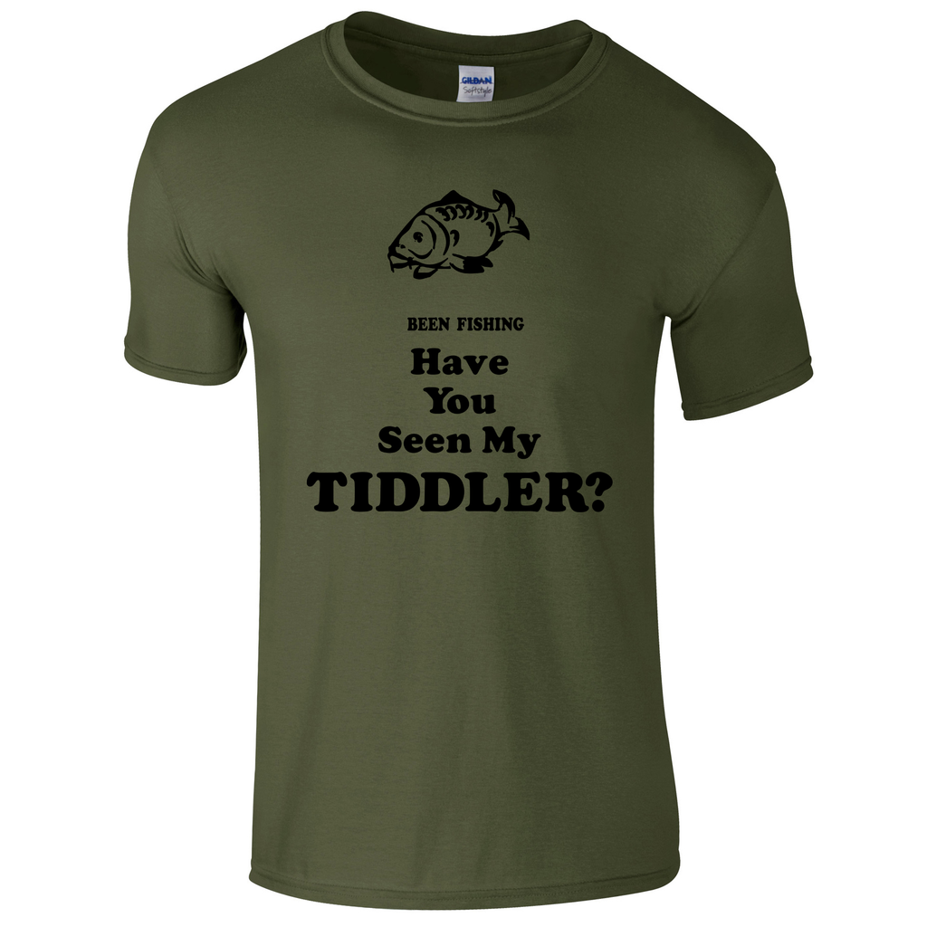 Been Fishing, Have you seen my Tiddler?  Fishing Threads Men's T-shirt