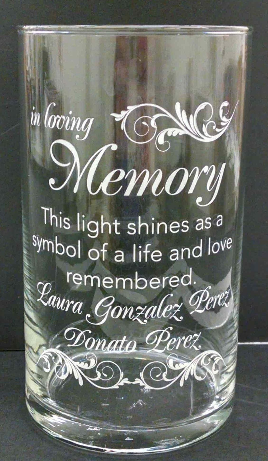 Memorial Candle -  - Personalized Candle Holders - Wedding Candles - 20