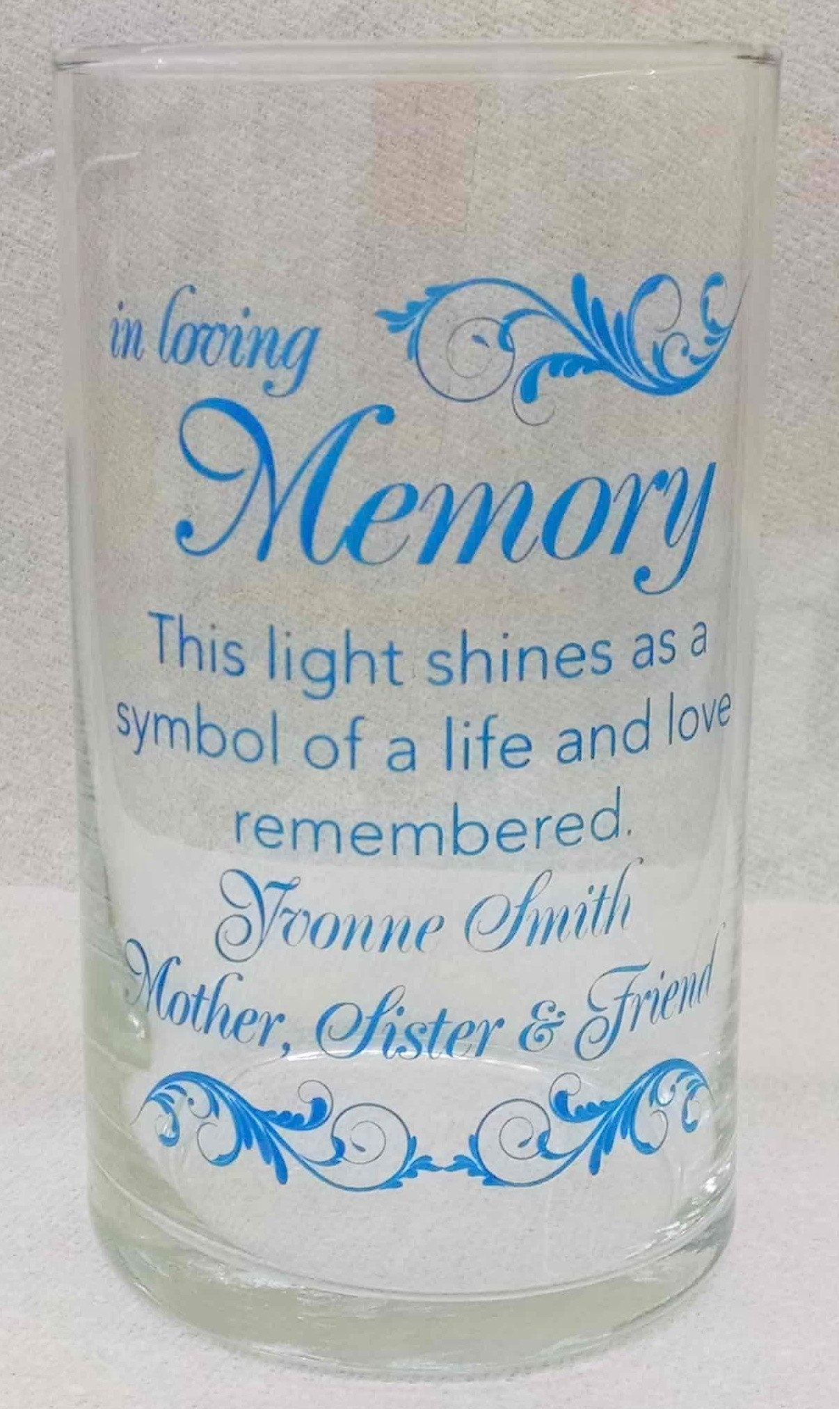 Memorial Candle -  - Personalized Candle Holders - Wedding Candles - 21