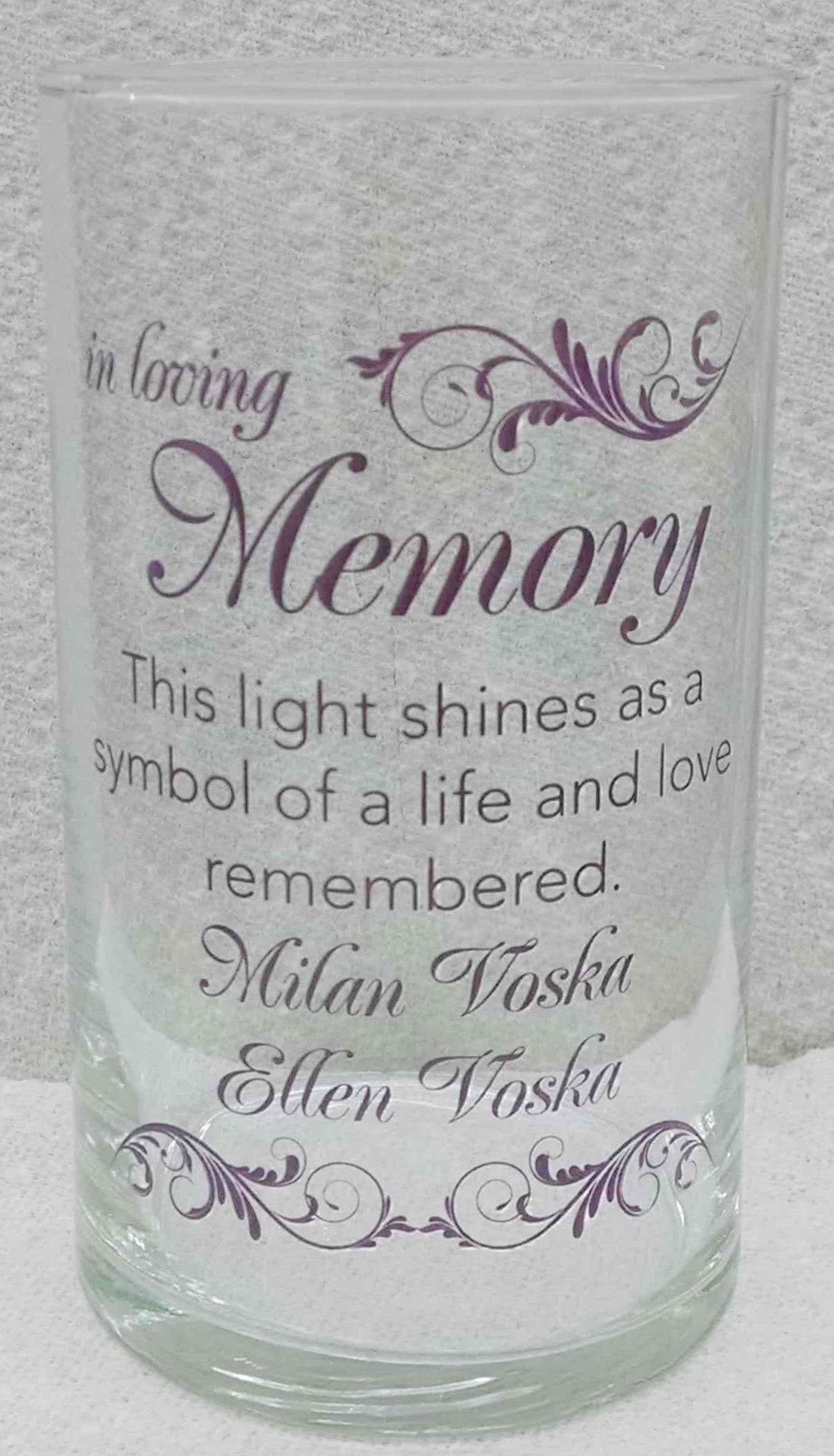 Memorial Candle -  - Personalized Candle Holders - Wedding Candles - 22