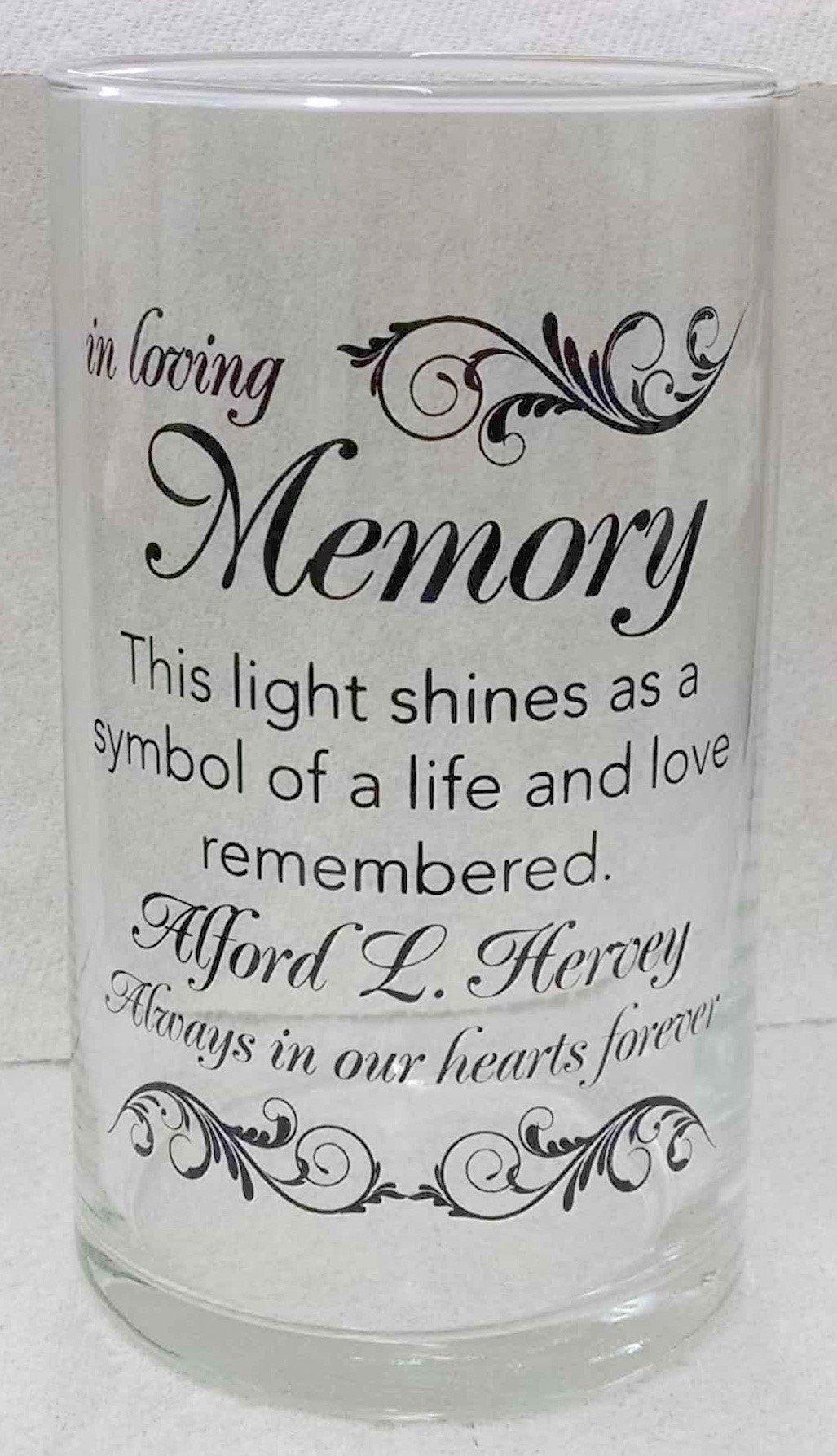 Memorial Candle -  - Personalized Candle Holders - Wedding Candles - 24