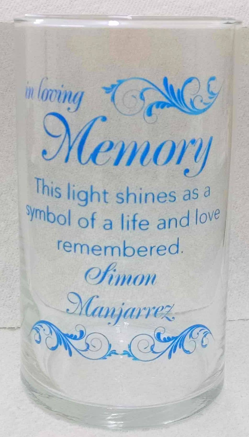 Memorial Candle -  - Personalized Candle Holders - Wedding Candles - 25