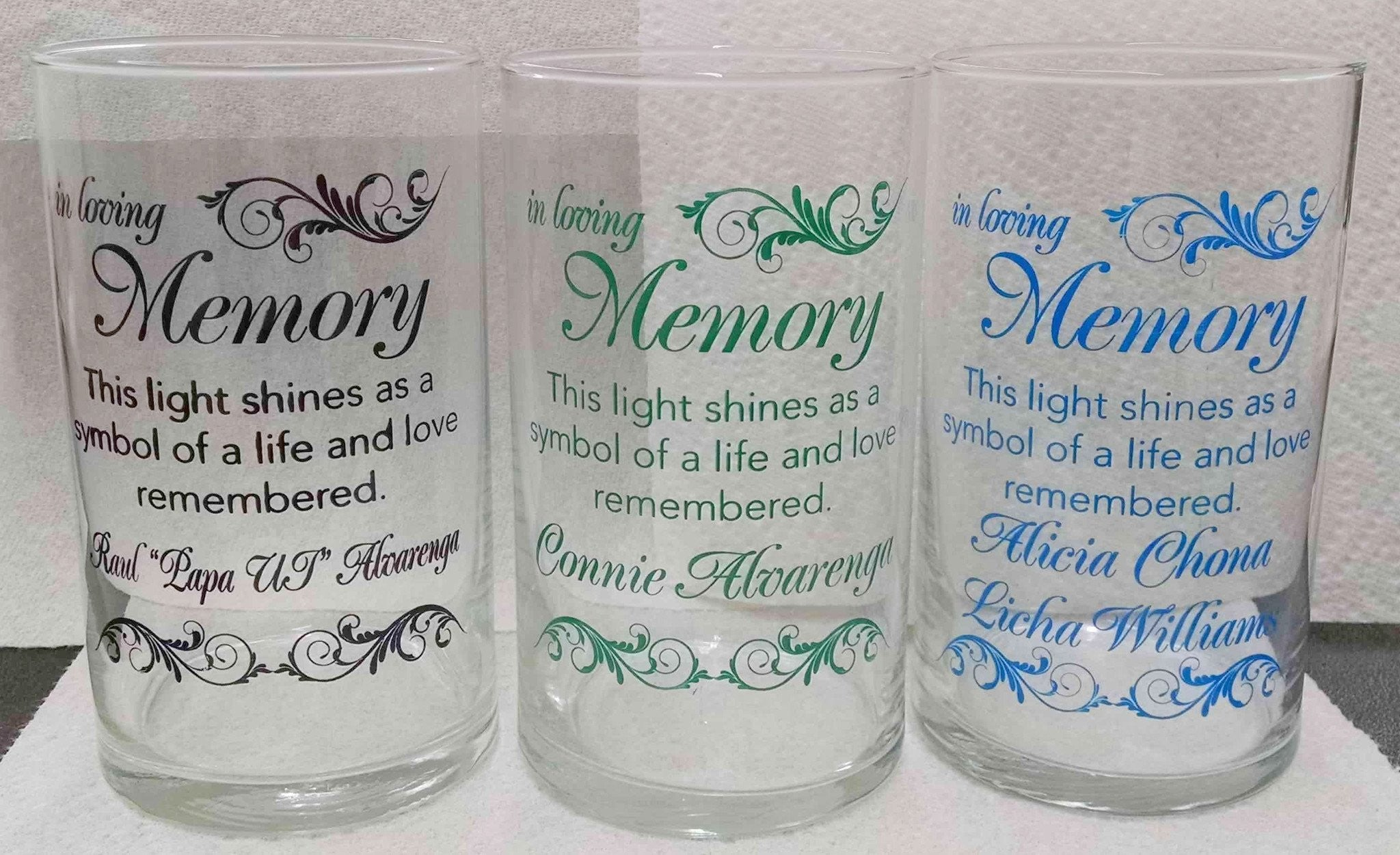 Memorial Candle -  - Personalized Candle Holders - Wedding Candles - 31