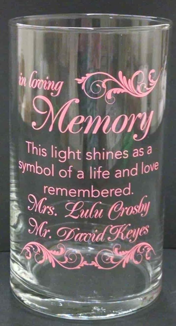 Memorial Candle -  - Personalized Candle Holders - Wedding Candles - 26