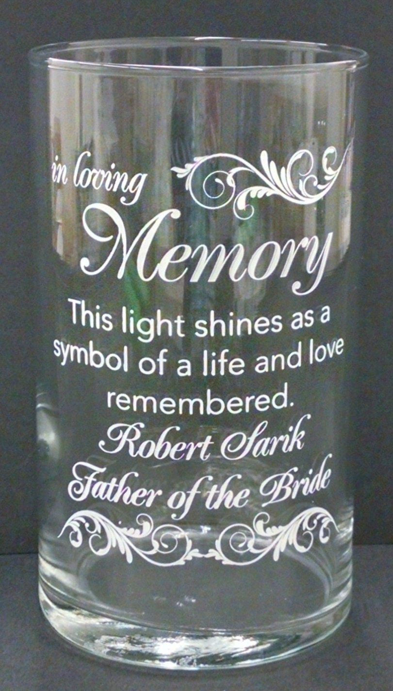 Memorial Candle -  - Personalized Candle Holders - Wedding Candles - 16