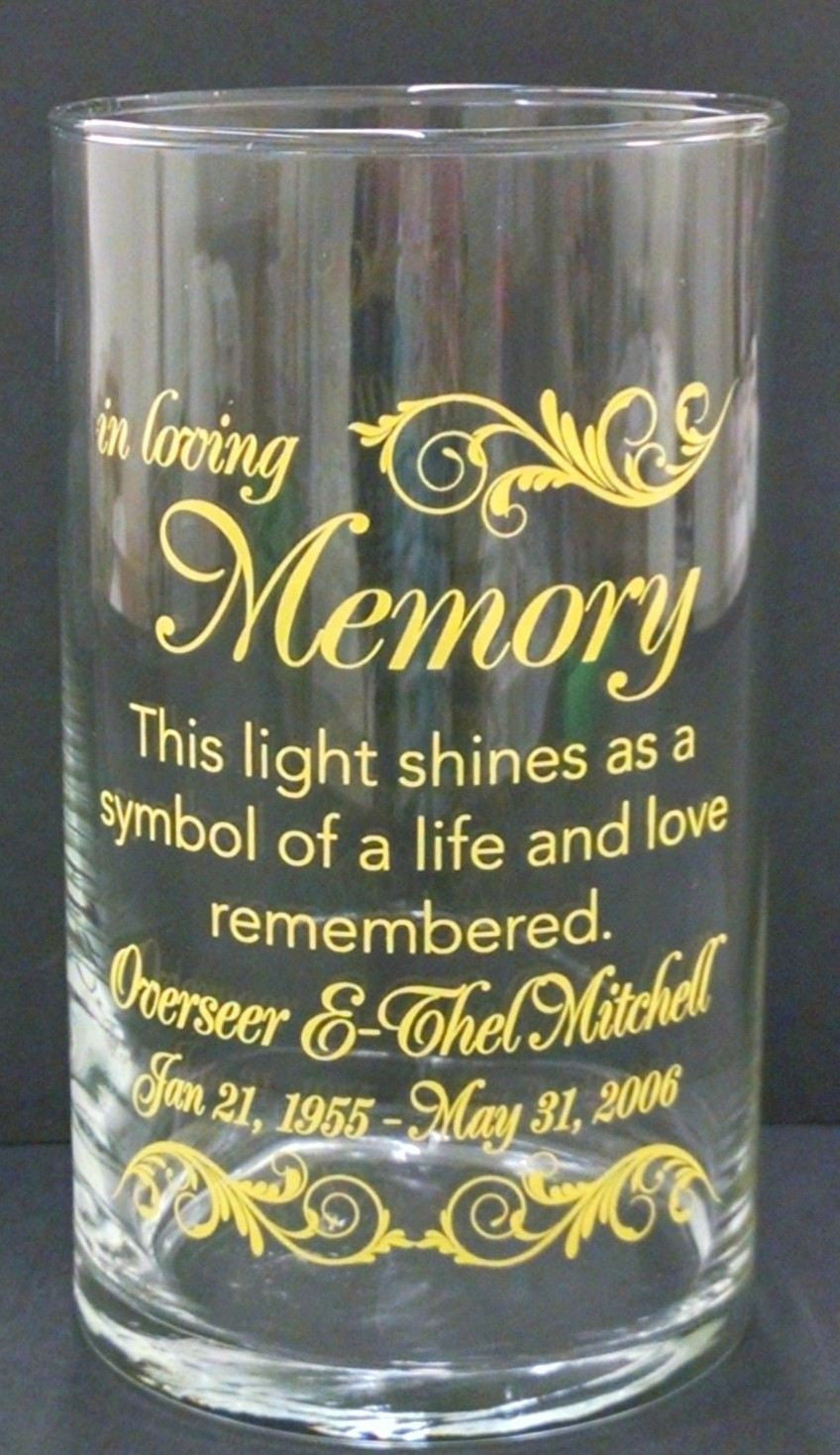 Memorial Candle -  - Personalized Candle Holders - Wedding Candles - 19