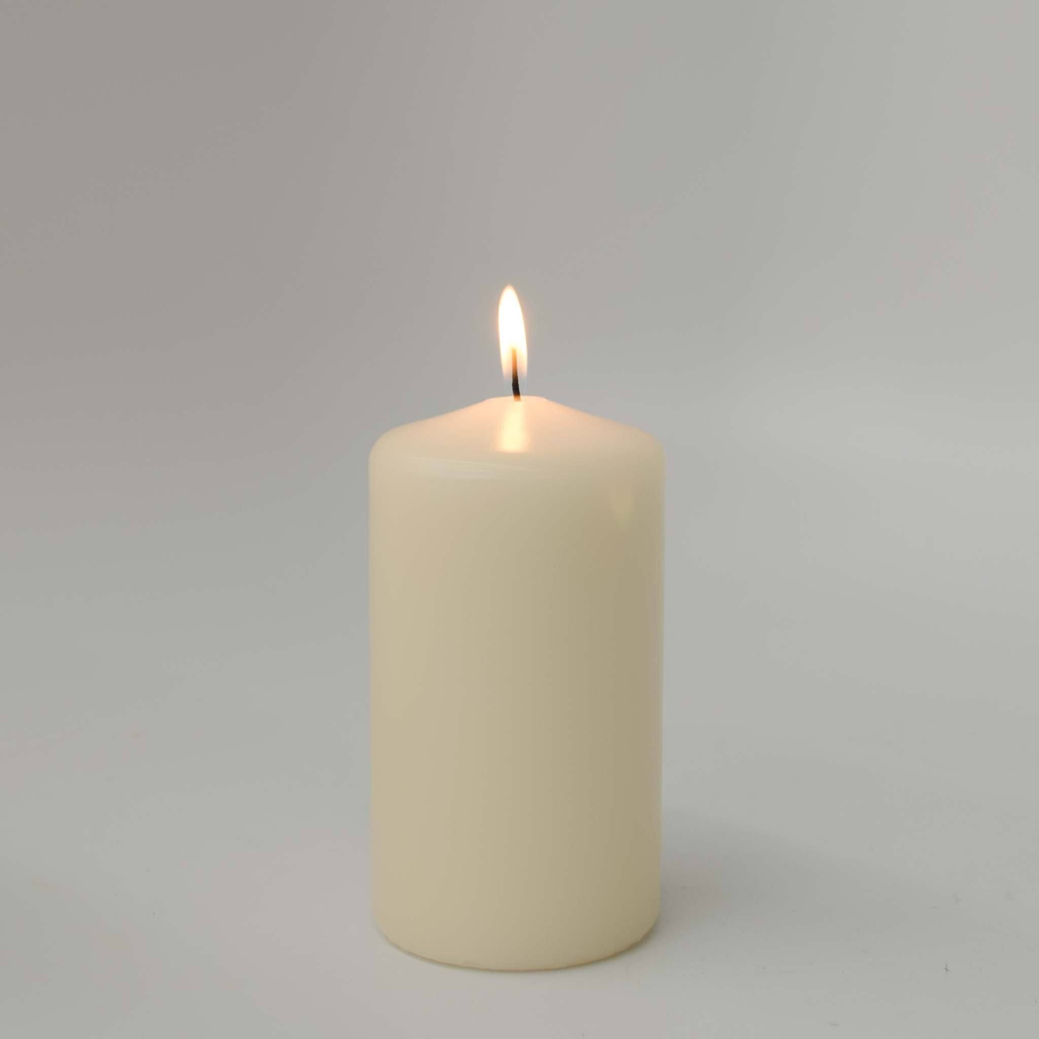 3x5 Ivory Pillar Candle (Case of 6) - WeddingCandles.com
