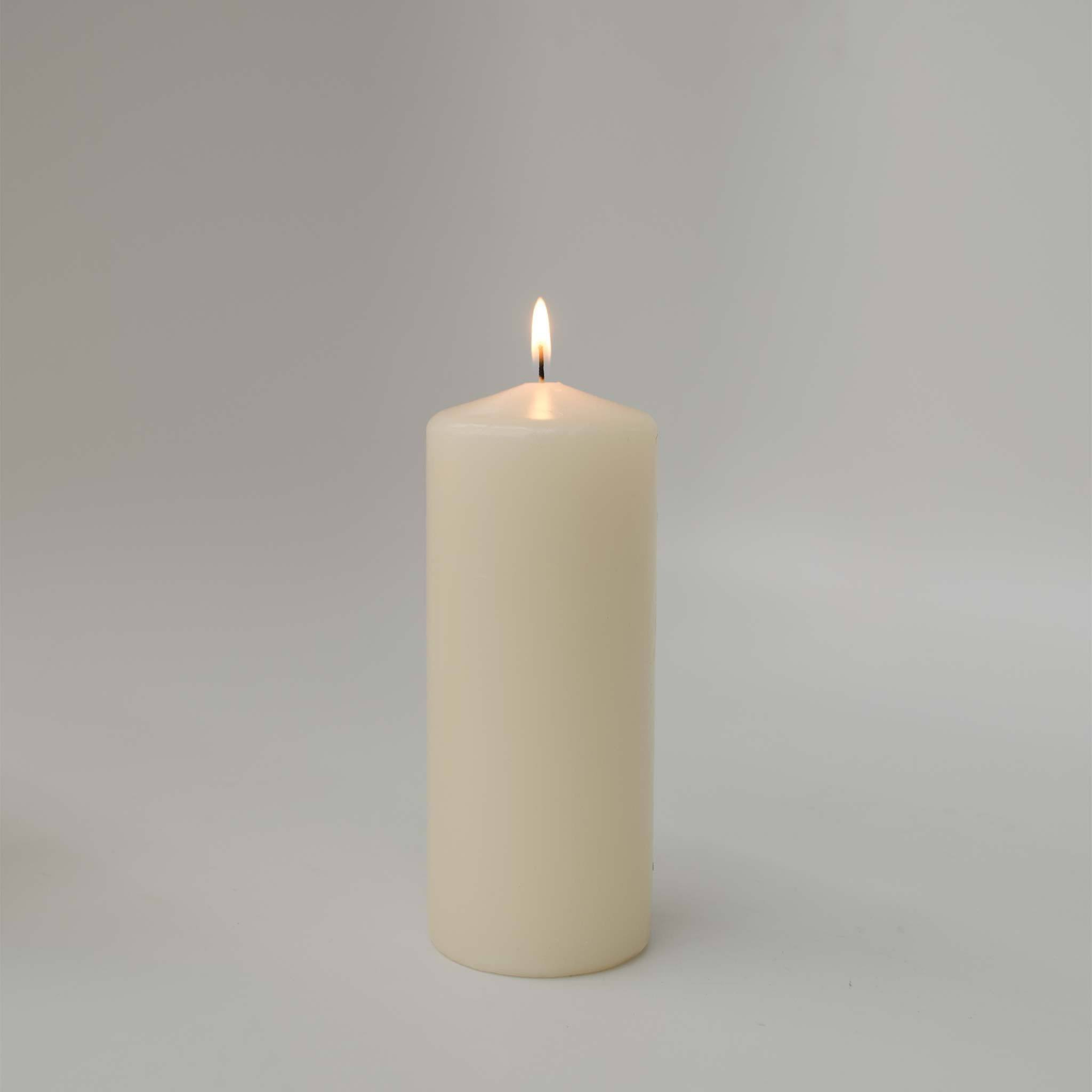 3x7 Ivory Pillar Candle (case of 6) - WeddingCandles.com