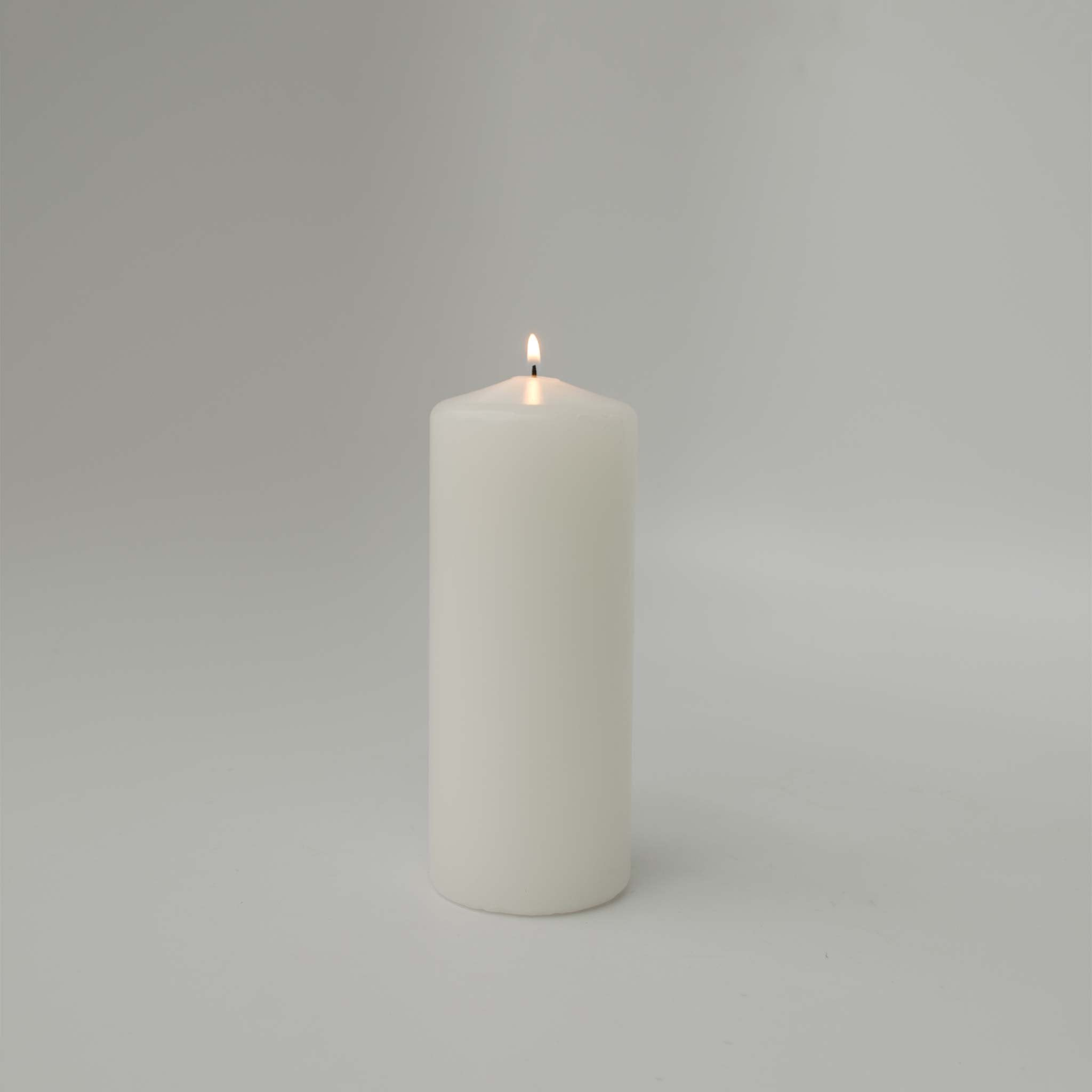 3x7 White Pillar Candle (case of 6) - WeddingCandles.com