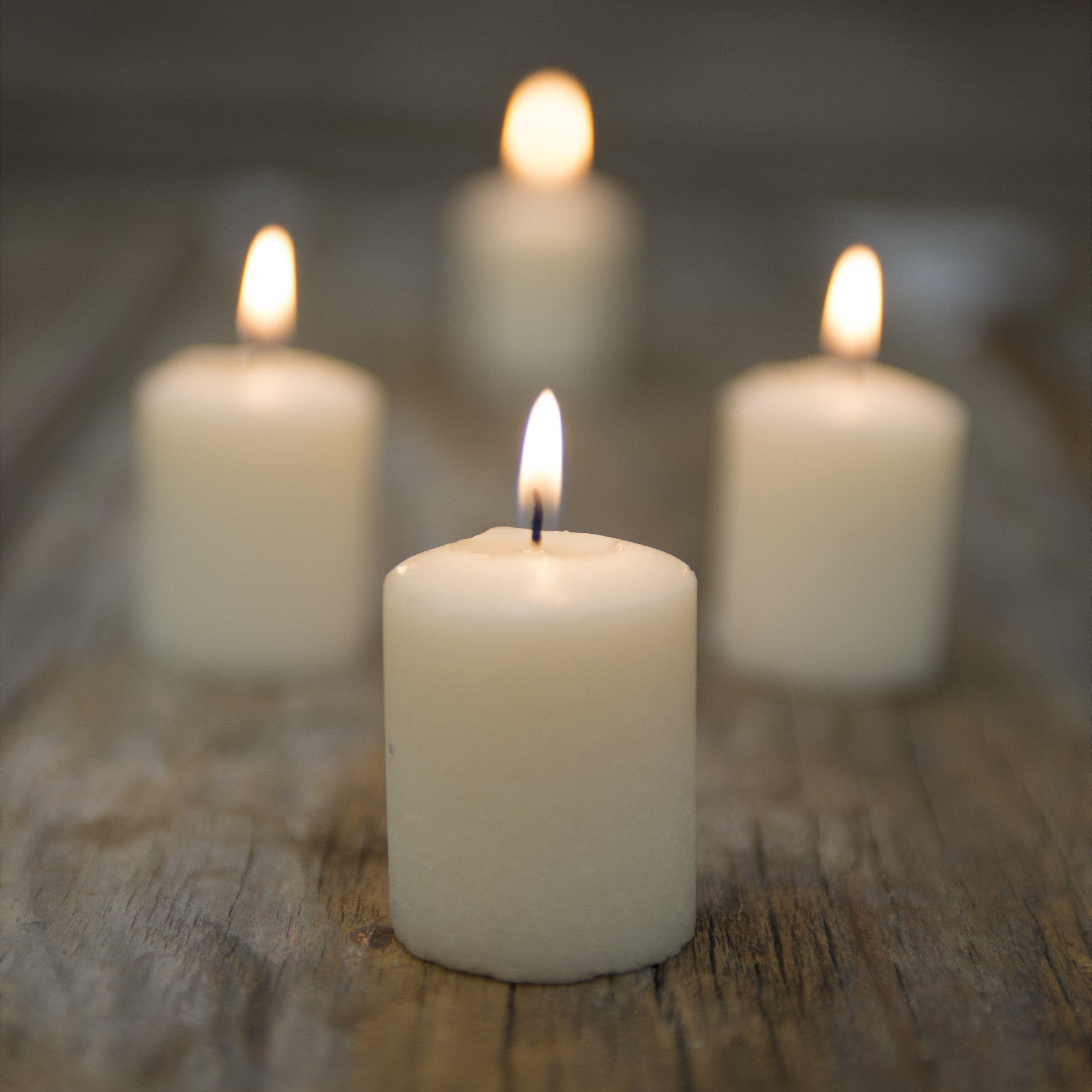 Ivory Votives (Case of 24) - WeddingCandles.com