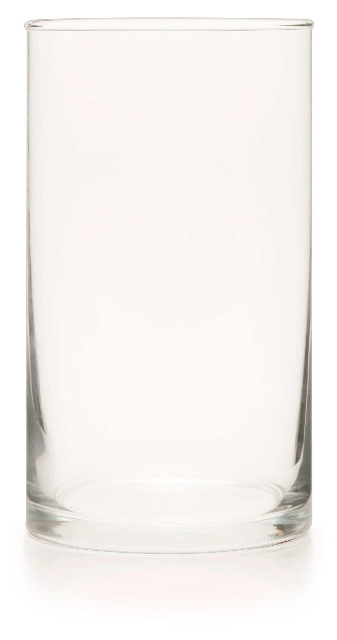 Clear Glass Cylinder (Unprinted Case of 6) - WeddingCandles.com