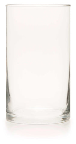 Clear Glass Cylinder (Unprinted Case of 12)