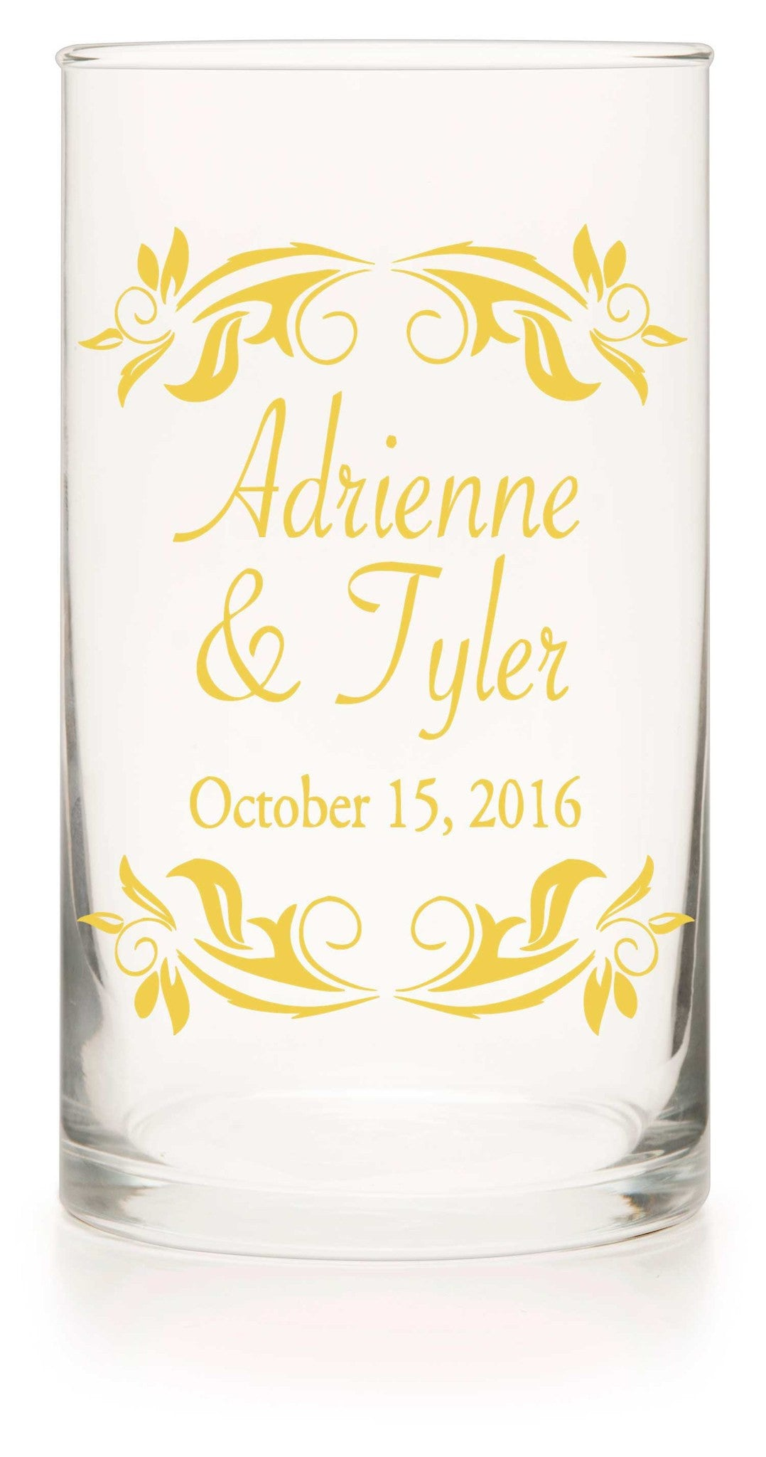"Unity or Anniversary Glass Cylinder - ""Together Forever"" - WeddingCandles.com"