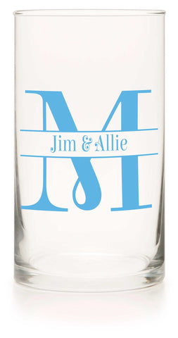 "Unity or Anniversary Frosted Mason Jar - ""Two Become One"""