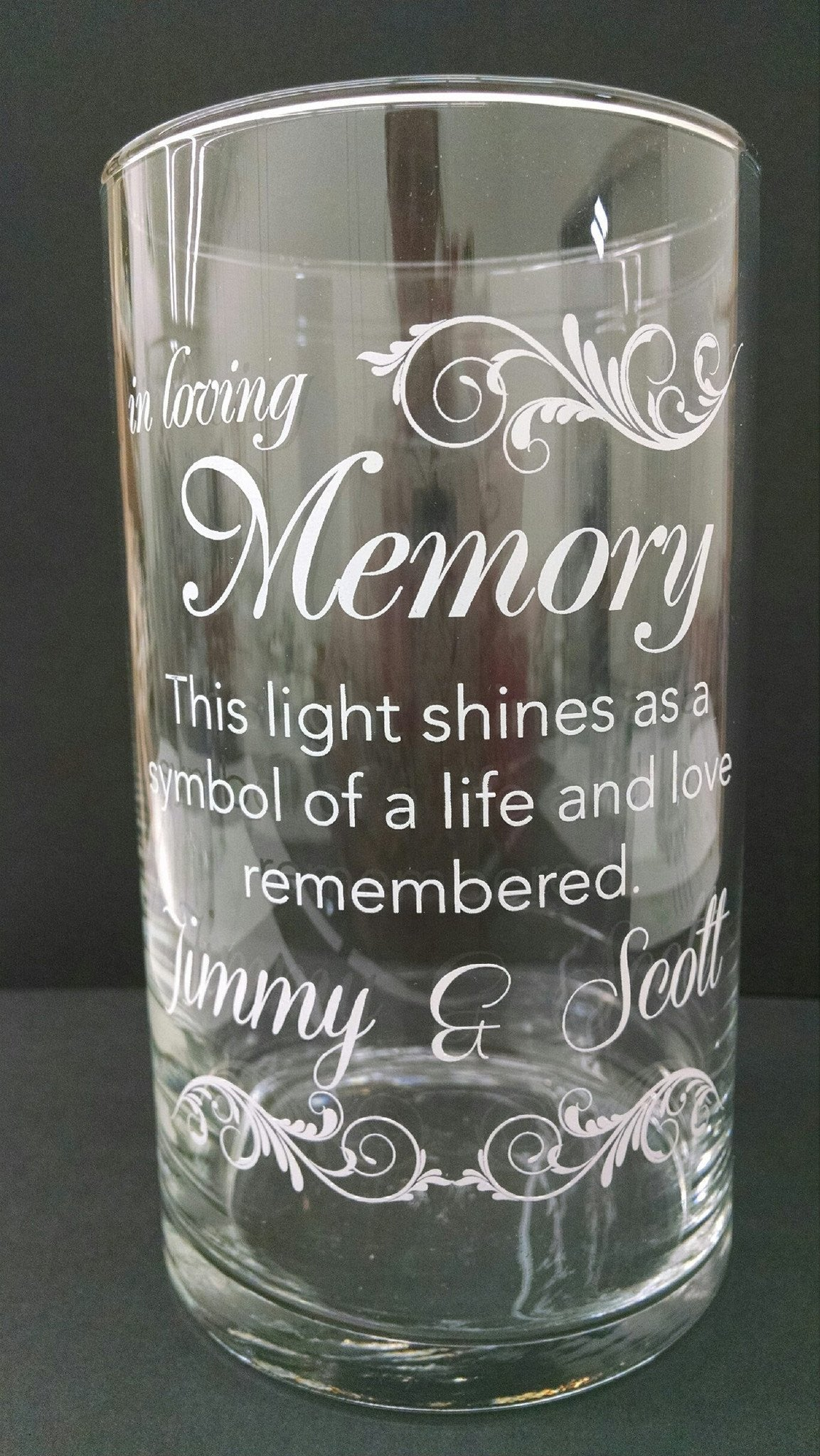 Memorial Candle -  - Personalized Candle Holders - Wedding Candles - 14