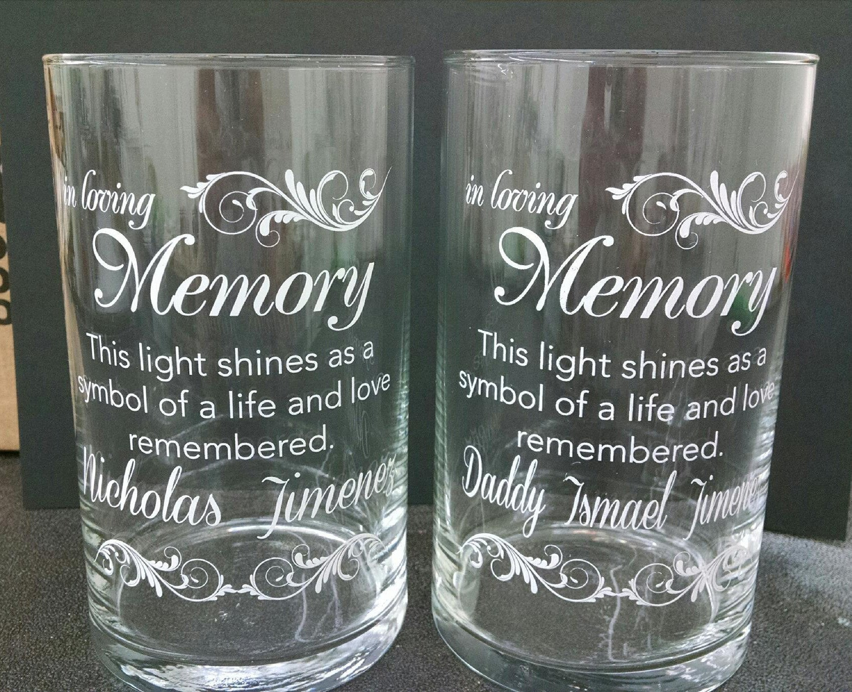Memorial Candle -  - Personalized Candle Holders - Wedding Candles - 28