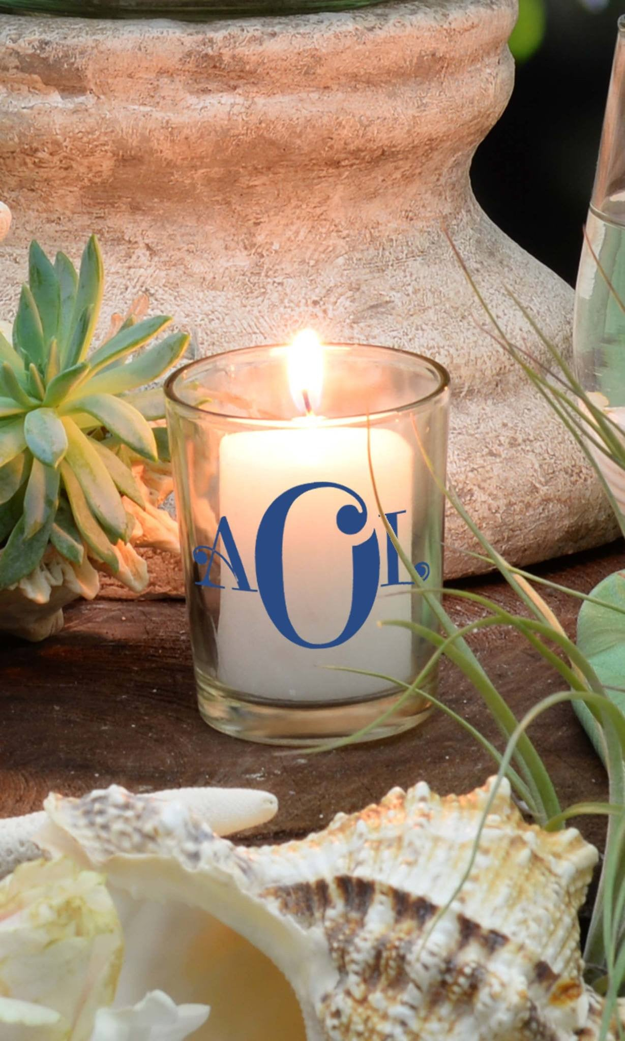 "Votive - ""Initially Yours"" - WeddingCandles.com"