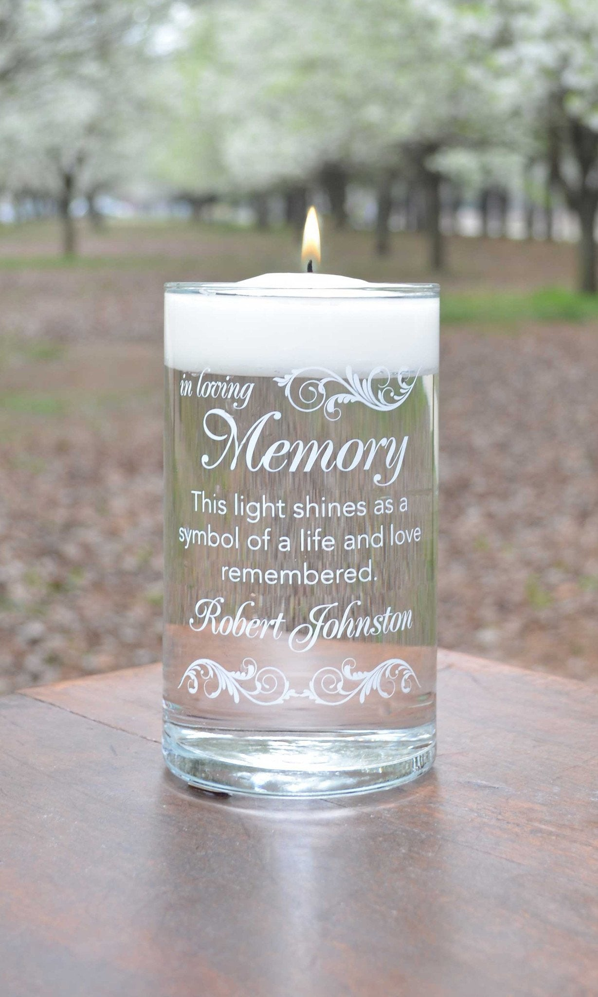 Memorial Candle - Here Comes The Bride White - Personalized Candle Holders - Wedding Candles - 1