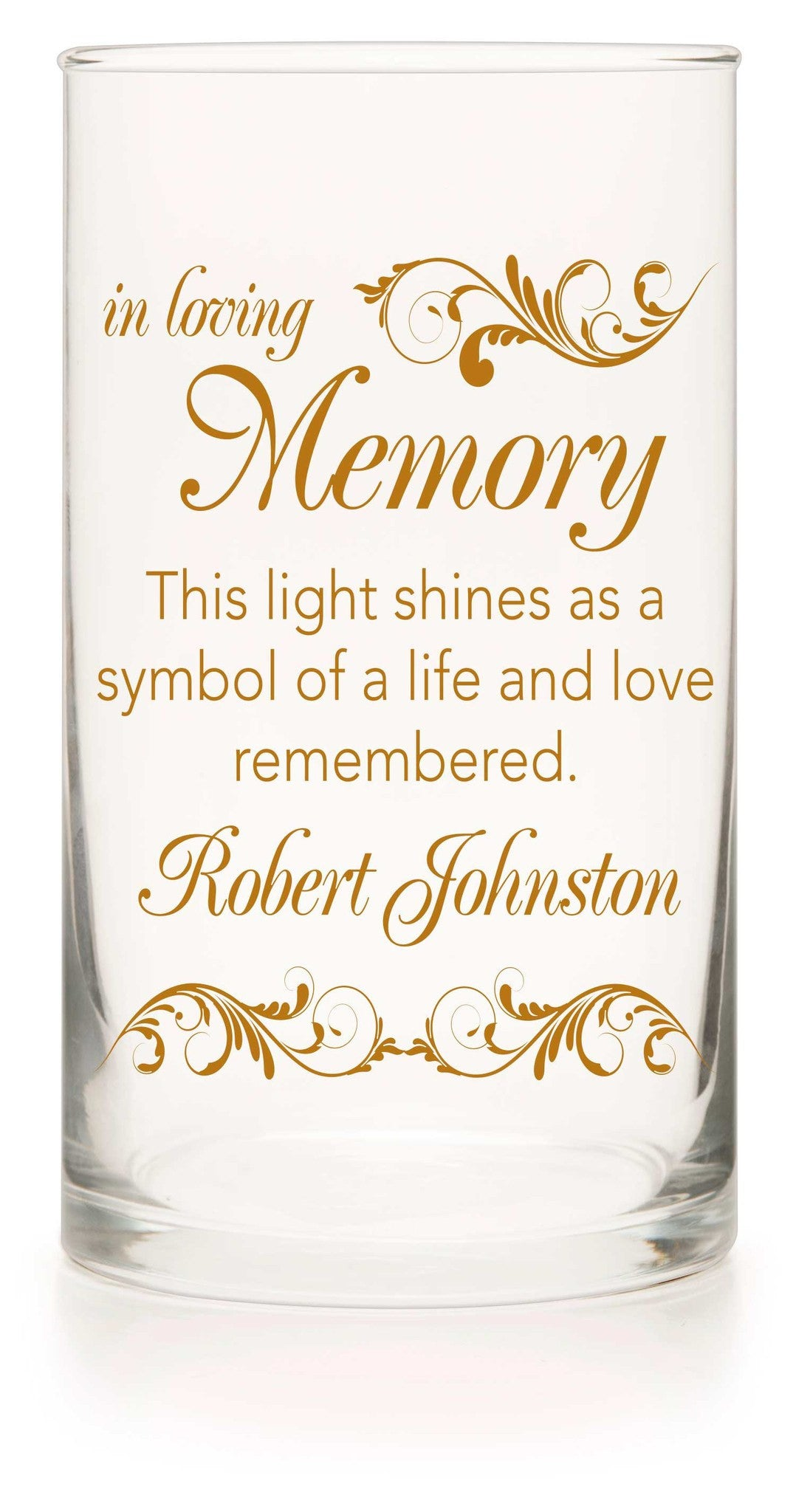 Memorial Candle - Going To The Chapel Amber - Personalized Candle Holders - Wedding Candles - 9