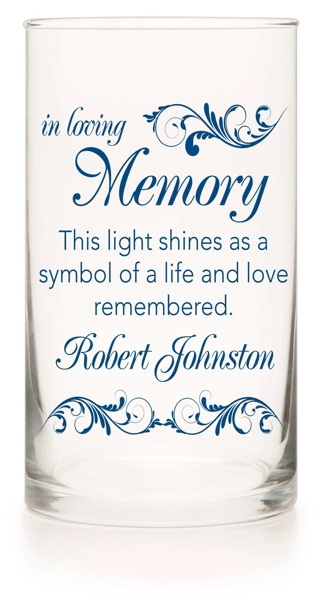 Memorial Candle - Something Blue - Personalized Candle Holders - Wedding Candles - 8