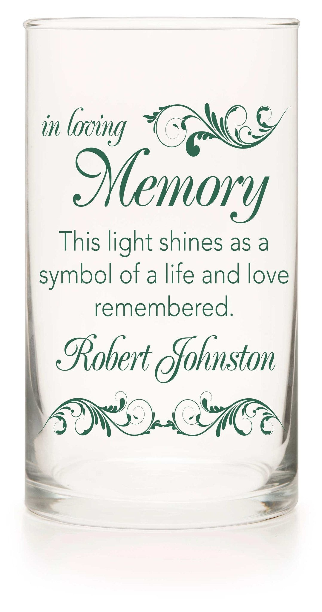 Memorial Candle - Wedded Bliss Green - Personalized Candle Holders - Wedding Candles - 5
