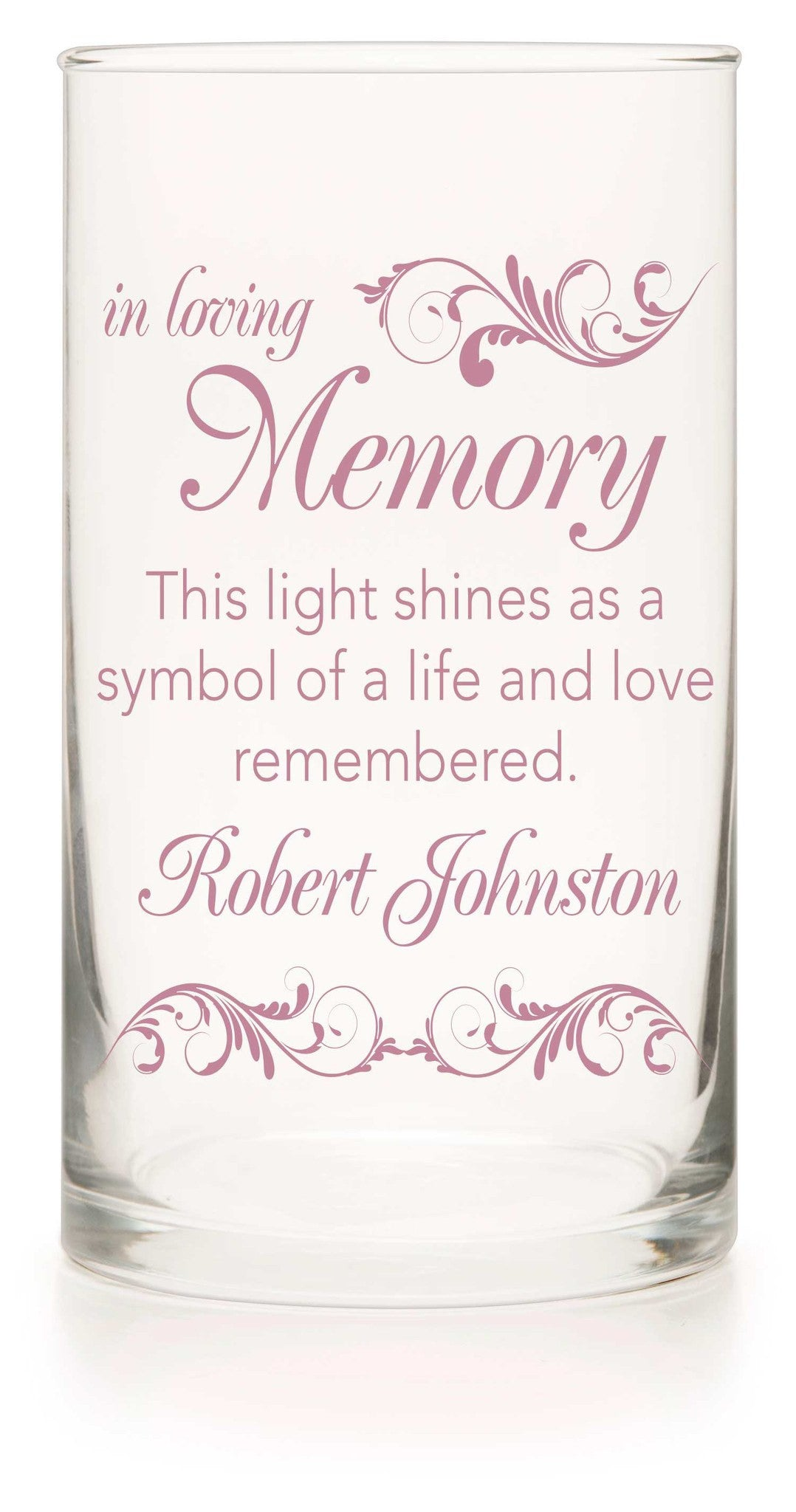 Memorial Candle - Blushing Bride Pink - Personalized Candle Holders - Wedding Candles - 7