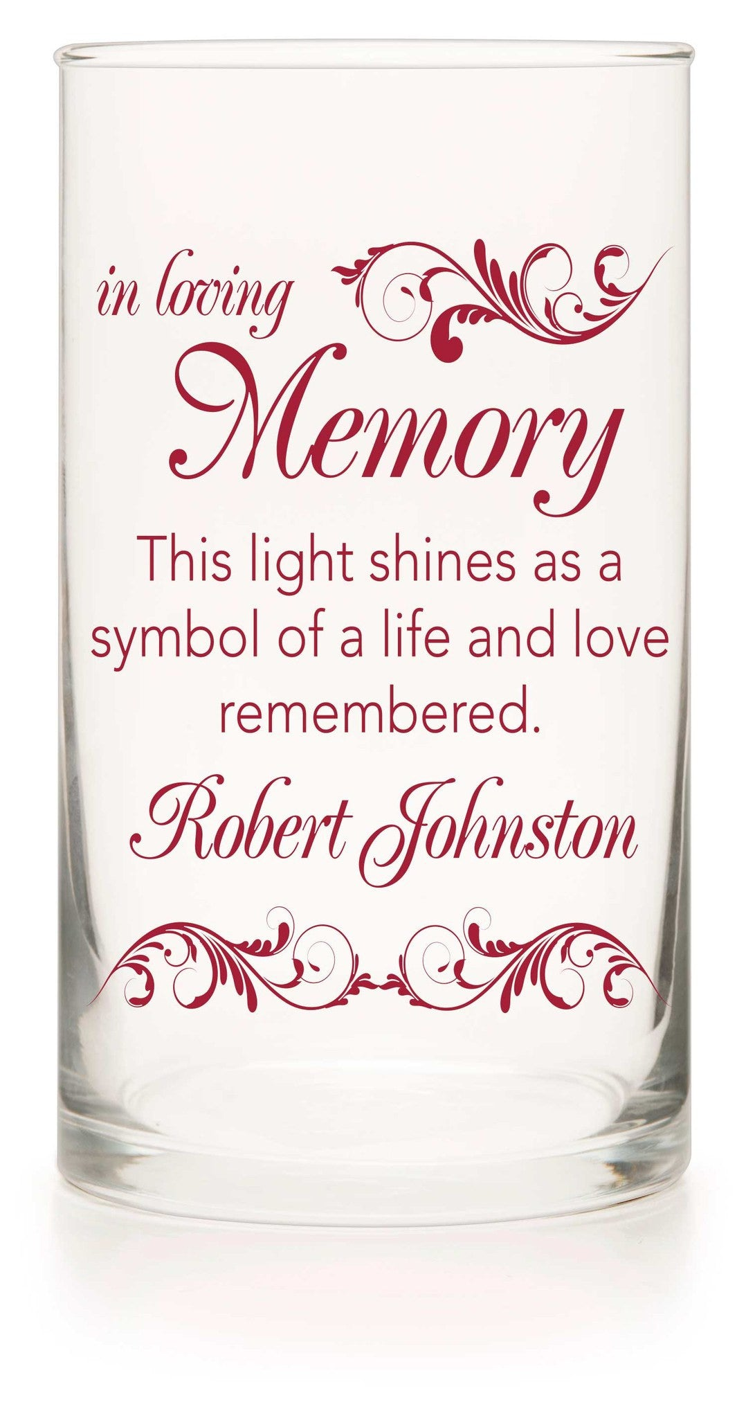 Memorial Candle - Love Story Red - Personalized Candle Holders - Wedding Candles - 3
