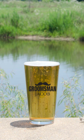 "Groomsman Pint - ""Moustache"""