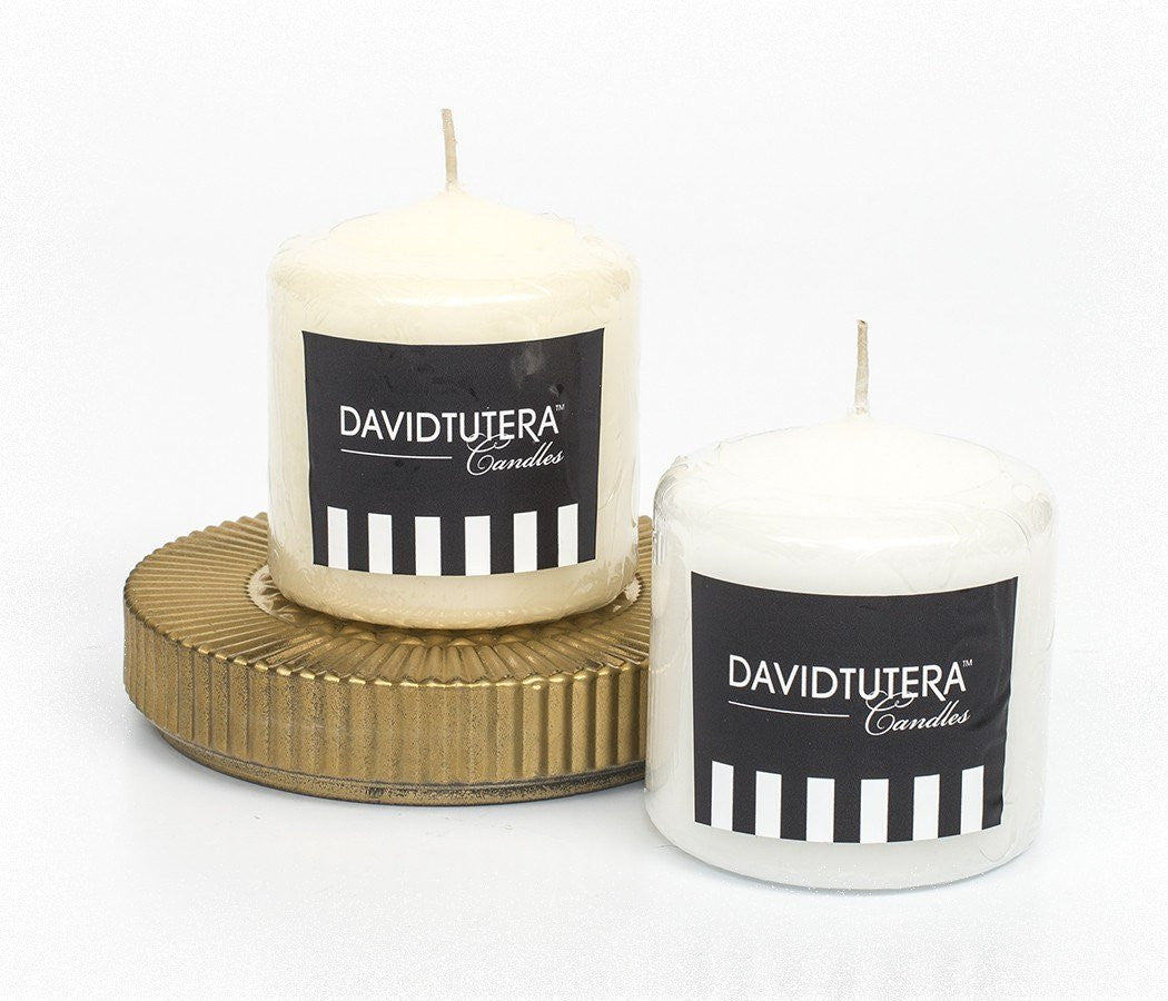 David Tutera Pillar Candles 3inch 6 pack - WeddingCandles.com