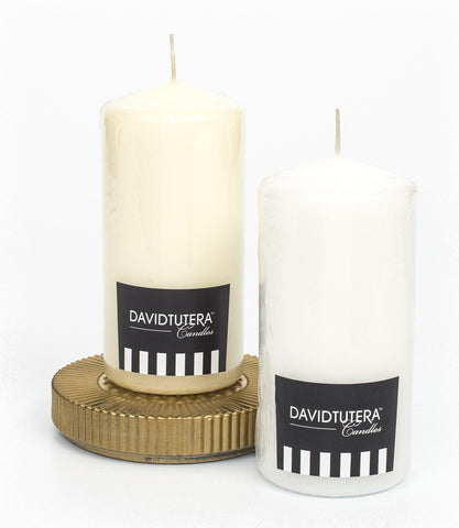 David Tutera Pillar Candle 6inch
