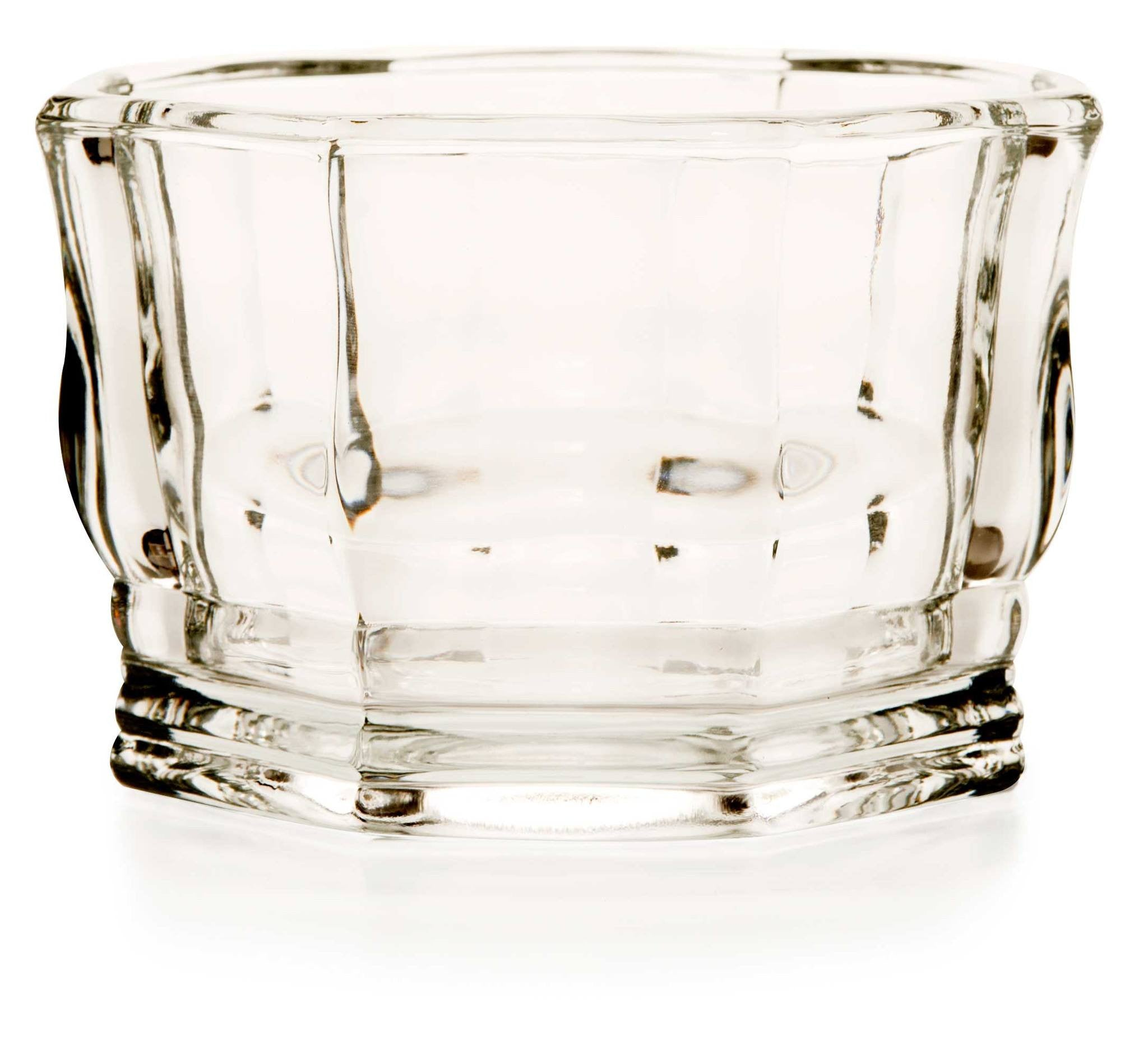 Glass bowl - 8 sided - octagon, faceted - WeddingCandles.com