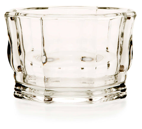 Glass bowl - 8 sided - octagon, faceted
