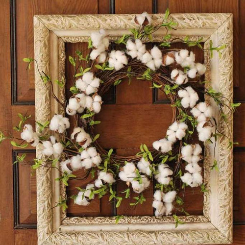 Cotton Leaf Wreath