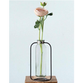 Gilly Glass Vase with Metal Stand