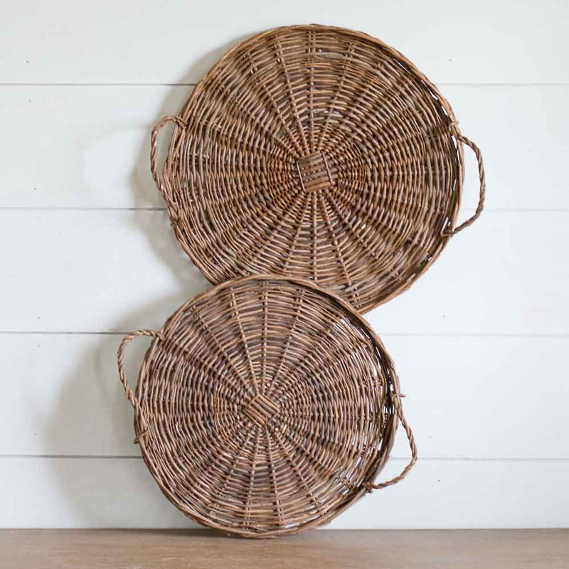 Large Willow Trays, Set of 2